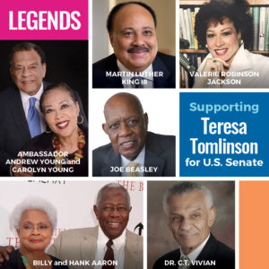 Many Of The Nation's Most Influential Voices In Civil Rights Endorse U.S. Senate Candidate Teresa Tomlinson