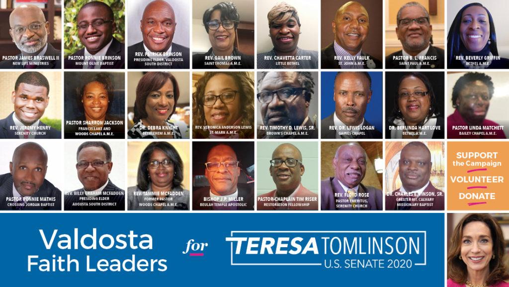 Valdosta Faith Leaders Endorse U.S. Senate Candidate Teresa Tomlinson